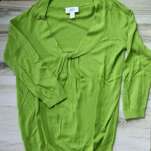 Loft Green Pullover Sweater Shirt